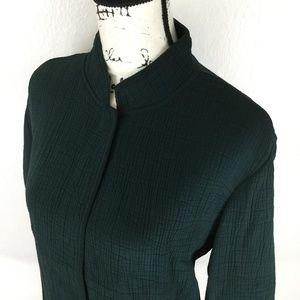 EILEEN FISHER Women's Dark Green Blazer Jacket